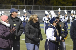 Pictures from Chelsea High School's senior night, featuring the honoring of the cheerleaders, band, and football team