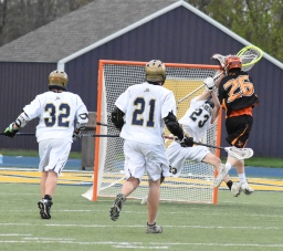 Josh Ciaccio makes an excellent point blank save