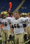 Sidelines in the state championship game