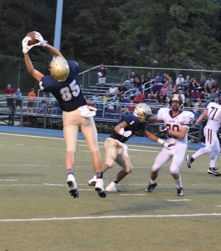 Bryce Jubenville jumps to make a great catch