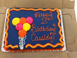 Cassidy McNeils surprise party cake