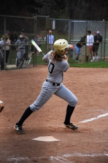 Sophomore Maddie Vasquez rips off a double