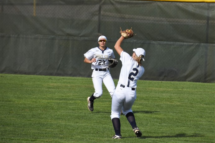 Second baseman Olivia Leonard makes a great catch