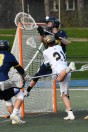 Cam Breining drives to the net
