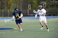 Nate Bero runs the ball up the field