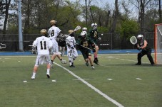 Nick Whitesall gets a shot and goal for the Bulldogs