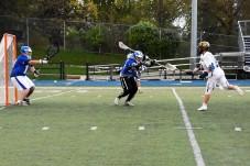 Cam Breining sends a rocket towards the net