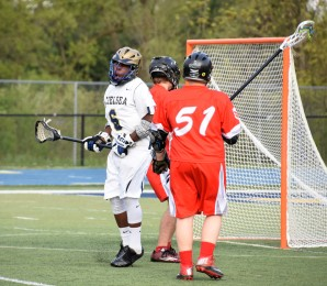 Mikal Nelson celebrates one of his 3 goals on the night