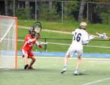 Nate Bero gets a point blank shot