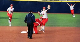 Lilli Piper makes a great play covering second