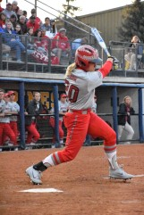 Emily Clark rips a big hit for the Buckeyes