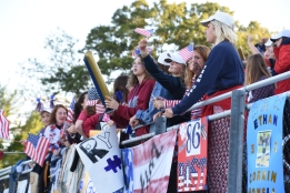 The Student section with an American theme on the night