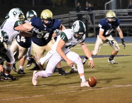 Hunter Adams chases down a fumble