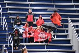 Loyal Buckeye fans battle the elements for their team