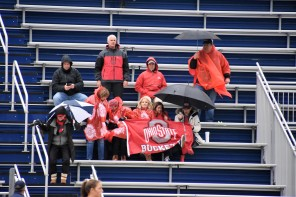 Loyal Buckeye fans battle the elements for their team